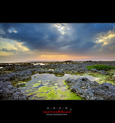 Hengchuen Sunset   ( SUNRISE@DAWN photography) Tags: light seascape green coral rock stone backlight landscape moss cloudy taiwan wave boulder line pebble coastline algae   mossy  tidalpool  tainancity       coastalscene        wanlitong taiwanlandscape sunrisedawn  hengchunpeninsula  pintungcounty wanliton  gettyimagestaiwanq2 coralreef  gettytaiwan12q2 gettyimagestaiwan12q3 gettytaiwan12q3 wanlitung gettytaiwan12q4  gettytaiwan13q1 gettytaiwan13q2 gettytaiwan13q3 taiwanseascape gettytaiwan14q1
