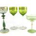 171. Four Antique Green Glass Goblets