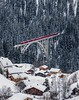 Rhätische Bahn on the Viadukt of Langwies, Graubünden, Switzerland (Explore # 10, 19.02.2013, Thank you all on flickr !!) (ehutphoto) Tags: bridge schnee winter rot train schweiz switzerland afternoon eisenbahn silence brücke wald baum wandern wanderung tannen ruhe nachmittag viadukt rhätischebahn langwies bahngleis canonef70200mmf28lii talwärts bestcapturesaoi elitegalleryaoi canoneos5mark3