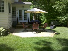 Before #2- back patio (The Sharper Cut Landscapes) Tags: small rear maryland before charlescounty porttobacco entertainmentarea