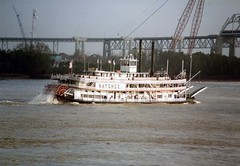 File0256 (alternate_world) Tags: usa skyline boats fishing louisiana ships neworleans cranes swamps mississippiriver houseboats alligators barges paddlewheel riverlife drydocks southlouisiana