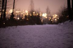 city lights (nicolasheinzelmann) Tags: schnee winter digital schweiz switzerland abend flickr nacht stadt bern february wald lichter februar weg canonef50mmf14usm sooc niederwangen canoneos5dmarkii 5dmkii nicolasheinzelmann 24februar2013