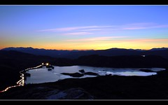 LochTarff Traffic (Inverness-Andrew) Tags: uk winter sunset sky mountains water landscape lights scotland timelapse highlands hills loch lochs lochtarff