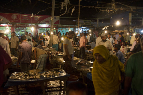 A night market in Barisal, Bangladesh. Photo by Finn Thilsted, 2012.