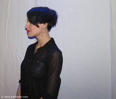 Side View of a Short Haircut (hairfinder) Tags: haircut fashion side pixie short hairstyle