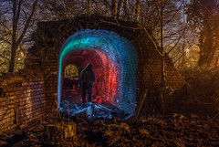 Look at the lights! (Raven Photography by Jenna Goodwin) Tags: light gardens night photography exposure paint stokeontrent lit staffordshire gel trentham noctography