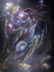 Another World1 (Valia.US) Tags: original light art geometric painting skyscape stars energy heaven acrylic circles space surreal s sparkle galaxy fantasy nebula bubble oil planet astronomy nightsky spiritual outerspace universe cosmic cosmos mystic solarsystem constellation deepspace celestial hubble scientific milkyway
