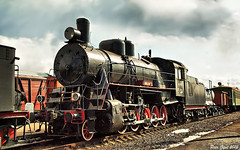 Russian Steam Locomotive E (Ye) 2-10-0 class -534.   - -534. (Peer.Gynt) Tags: class steam e locomotive russian ye 2100   534  saintpetersburgrailwaymuseumatwarshavskyrailterminal