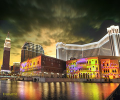 The Venetian Macau (Tomasito.!) Tags: longexposure urban italy reflection tower water nikon lasvegas casino gaming poker macau d90 gabling
