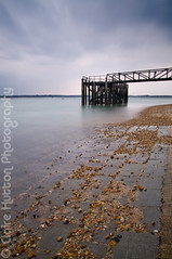 (Claire Hutton) Tags: longexposure sea beach water pier daylight stones jetty overcast pebbles hampshire le solent dull slipway calshot ndfilter southamptonwater 10stop nd110 bw110 nikond90