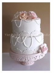 jessie (The Whole Cake and Caboodle ( lisa )) Tags: pink wedding roses white cakes jessie rose cake lace peach pearls pearl mcquinn caboodle