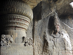 Site d'Ellora site unesco world heritage (geolis06) Tags: sculpture india asia buddha carving bouddha maharashtra asie unescoworldheritage inde bouddhisme ellora patrimoinemondialdelunesco geolis06