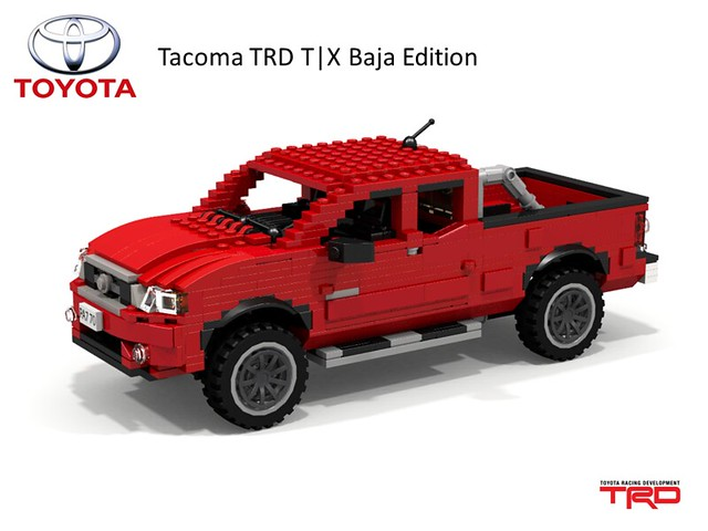 auto car model lego offroad render 4wd utility pickup racing ute toyota tacoma baja division edition awd compact cad povray trd moc ldd miniland t|x 2013 foitsop lego911