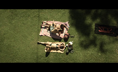 Mid-summer Dream (James Yeung) Tags: girl movie candid bikini tasmania cinematic sunbathing moviestill