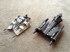 Grievous' starfighter and snowspeeder (Johnny-boi) Tags: project star ebay lego wars build hoth endor grievous mtt