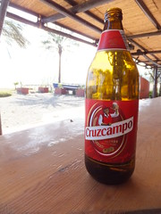 From the night before (stevenbrandist) Tags: beach beer bar bottle spain sunday espana costadelsol 1904 cruzcampo gambrinus brownglass