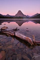 Pink Medicine (hillsee) Tags: mountains dawn montana glaciernationalpark twomedicinelake d700 mtsinopah