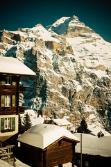schweizwinter (jonas_k) Tags: blue schnee winter sky house mountain snow home berg schweiz dorf village suisse swiss peak chalet ch berneroberland gipfel faulhorn