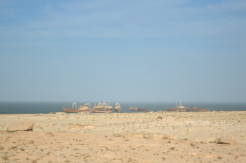 Reduced ship cemetary in Nouadhibou