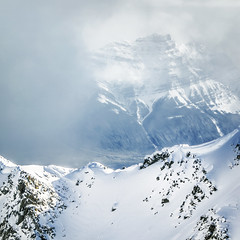 Beyond (nicholasdyee) Tags: winter mountain snow canada mountains cold nature clouds square landscape jasper ridge alberta rockymountains nicholasyee nicholasdyee