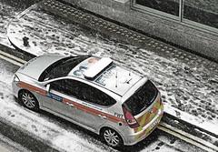 Snow Patrol (EM5 & Panasonic 35-100mm) (markdbaynham) Tags: street city urban snow london car lens four capital police olympus panasonic micro third vehicle metropolis metropolitan f28 omd ccs mps em5 35100mm m43rd