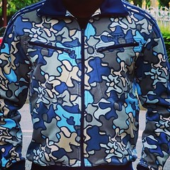 The Adidas Originals Blue Safety Camo Track Top by EnLawded.com (The Lawd for EnLawded) Tags: world fashion sport vintage soldier army fan blog artwork marine war stripes navy style camo clothes collection originals celebration greatest battlefield division airforce adidas item swag rare addict exclusive worldwar forces collector allin outstanding regiment astonishing troup treilli uploaded:by=instagram enlawded