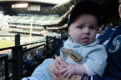120414 mariners game 034.jpg (jakevenard) Tags: seattle people sports hat washington clothing unitedstates baseball events country objects places baseballhat safecofield seattlemariners marinersgame leightonvenard