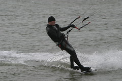 Lepe (Solent) kitesurfer 1 - an exercise in turning! (John (Chichester)) Tags: solent kitesurfer lepe