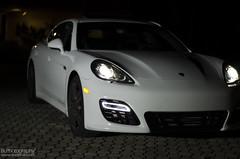 white car night shoot power projector super led turbo porsche porn supercar 2012 gts carporn 2011 panamera 2013 beautiufl