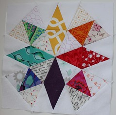3x6 Mini Bee - Quarter 1 2013, Hive D Paper Piecing (by niveas) Tags: