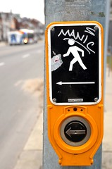 manic button (mcfcrandall) Tags: toronto crossing streetsign button manic crosswalkbutton