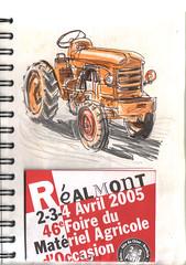 050404 foire agricole05 (Vincent Desplanche) Tags: tractor rural sketch tracteur ballpoint croquis colorpencils crayonsdecouleurs stylobille