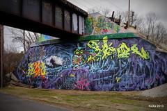 Stalactites and Stalagmites (Khaz) Tags: bridge graffiti annarbor toad cave huron argo