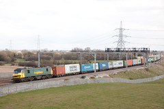 MID_038 (Stuart's Transport) Tags: uk electric train loco container freight lichfield freightliner class90 westcoastmainline wcml trentvalley 90016