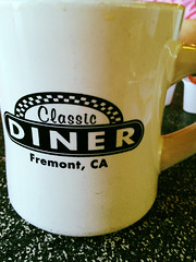 Classic Diner - Fremont, CA (earthdog) Tags: apple cup coffee moblog word coffeecup cellphone 4s iphone 2013 iphoneography iphone4s appleiphone4s