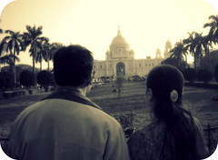 """Mom & Dad, """" The Times """" (ThyUrbanMonk) Tags: life old india love children memorial couple married victoria days vision times calcutta sentimental"""