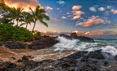 Just Me and the Surf (mojo2u) Tags: ocean morning sunrise hawaii surf secretbeach maui weddingbeach nikon2470mm nikond700