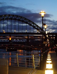 Quayside Lights - Newcastle (Gilli8888) Tags: night river newcastle streetlights bridges tyne millenniumbridge gateshead tynebridge northeast swingbridge quayside metrobridge rivertyne highlevelbridge tyneandwear