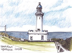 Norah Head Light 220316 (panda1.grafix) Tags: norahhead lighthouse seascape pencilinkwash sketch