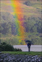 Woman & Child (McRusty) Tags: fort augustus rainbow woman child umbrella rain red yellow pink green orange purple blue loch ness beautiful natural outdoor phenomenon