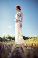 Madison Grass (Oooah!) Tags: portrait sunset seethrough fashion beauty grassfield female farmland madisonnazzarette beautiful newmexico sonya7 shorthair model sexy ilce7 lacedress