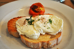 Poached eggs (Roving I) Tags: poachedeggs dining toast breakfast tomato lusine cafes saigon hcmc hochiminhcity vietnam