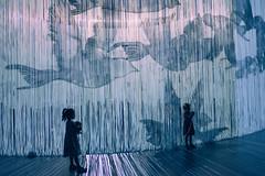 Curtain Call I ({Laura McGregor}) Tags: curtaincall neon lights ronarad art installation roundhouse cylinder illuminated beautiful littlegirl london lightshow curtain fujixpro2 fujjifilm vsco vscofilm dark shadow silhouette