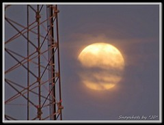 Moonrise through the Clouds! (Snapshots by JD) Tags: moon oklahoma westville