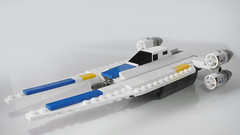 Mini U-Wing (with instructions) (hachiroku24) Tags: lego uwing wing mini midi scale spaceship star wars rogue one toy creation moc