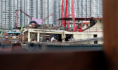 """another day on the boat"" (hugo poon - one day in my life) Tags: xt2 35mm hongkong aberdeen aberdeenharbour boat longday vanishing saturday summer"