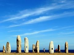 5224-Menhires del Parque escultorico de La Torre de Hercules (jl.cernadas) Tags: nubes escultura menhires piedra pedra parque mar sea atlantico corua galicia galiza spain espaa europa europe art arte