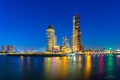 Rotterdam (Peet de Rouw) Tags: rotterdam nacht nachtfotografie denachtdienst wilhelminapier rijnhaven nieuwemaas wpc hotelnewyork montevideo peetderouw canon5dmarkiii holland twilight netherlands canon1740f4lusmgroup