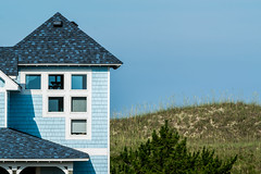 Blue Beach House and Sand Dunes in the Outer Banks of North Carolina (Scott Marder) Tags: outerbanks blue shingles beachhouse sanddunes sky northcarolina 2016 house bluesky beachvacation