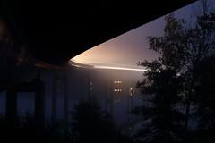 Nebelspiel (janakintrup) Tags: natur outdoor nature nebel auto abend nacht licht lichtspur see brcke schweden sweden abendstimmung spur dunkel blau spiegelung bridge strase street canon night august urlaub stmne vrmland